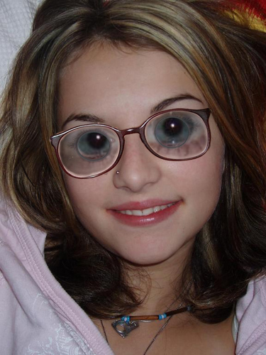 Jenny is playing with glasses