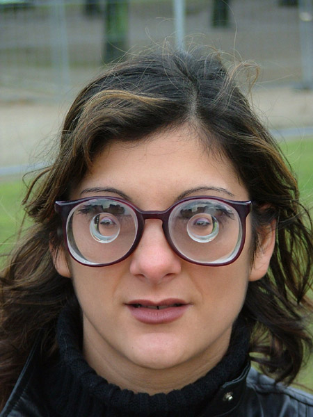 Good Eyeglass Frames For Thick Lenses : eye glasses thick as hell - morphed by Bobby
